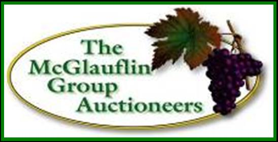 The LOGO for McGlauflin Group Auctioneers is Grapes on the vine.